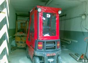 Ochranná plachta pre vysokozdvižný vozík