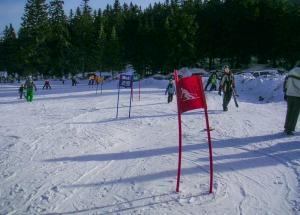 Slalomová značka z plachty